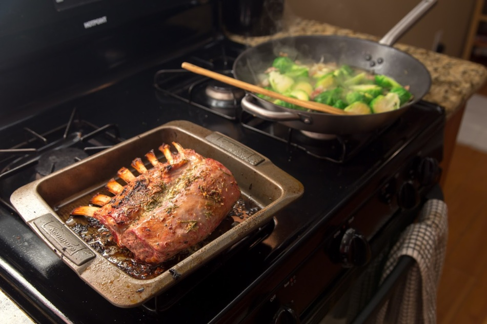 Rosemary-Crusted Rack of Lamb with Bacon Brussel Sprouts-3