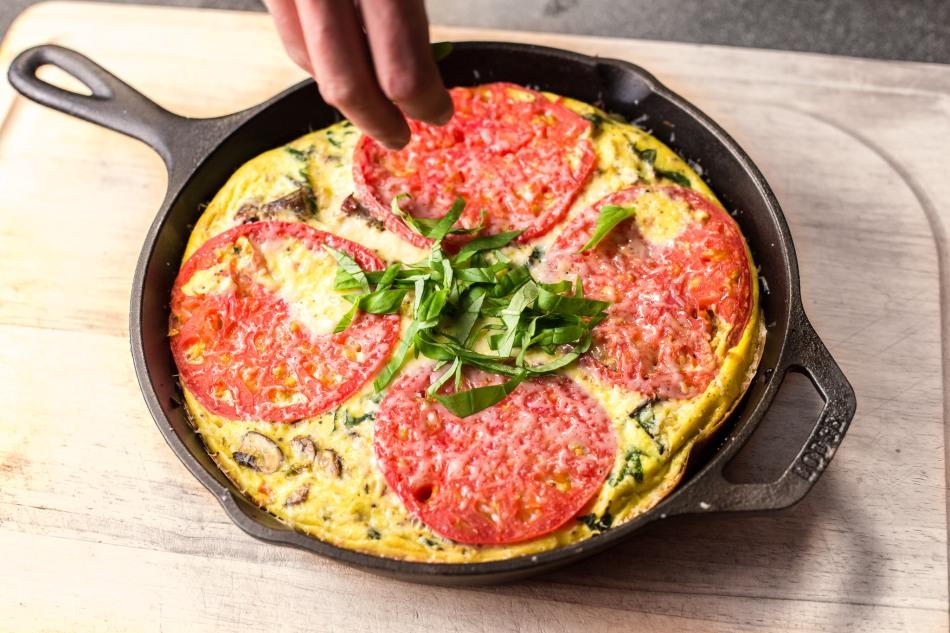 Heirloom Tomato Vegetable Frittata-0338