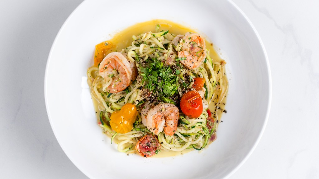 Pesto-Shrimp-Zoodles-Spiralizer